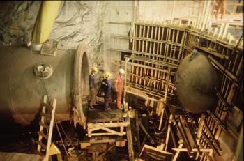 Byggefase i Tonstad kraftverk