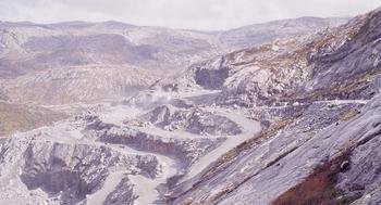 Dam Svartevatn under arbeid i 1974