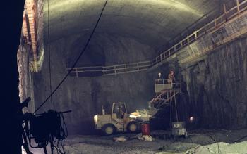 Kvinen kraftverk under utbygging