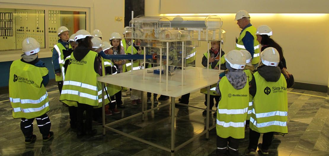 Guiding i Tonstad kraftverk