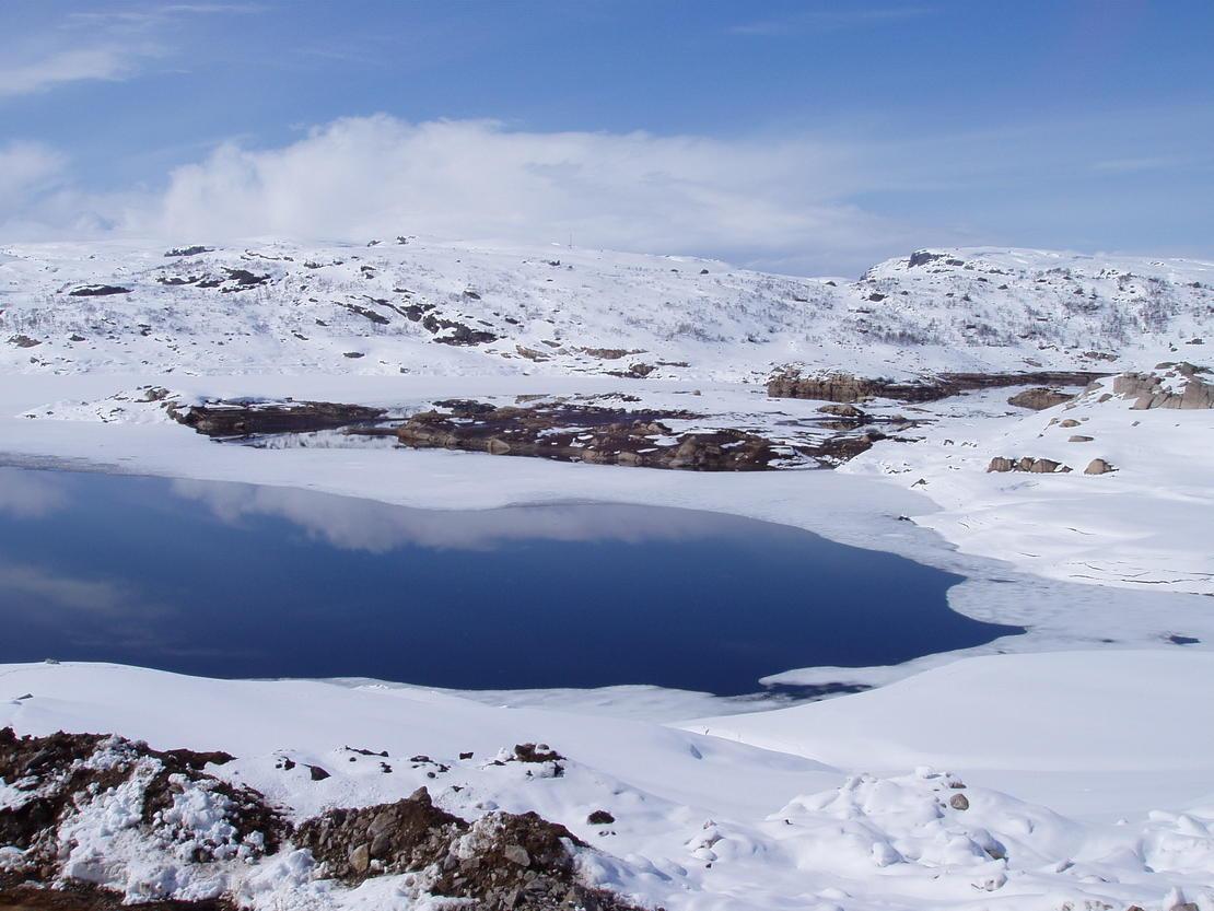 Vinterlandskap på fjellet